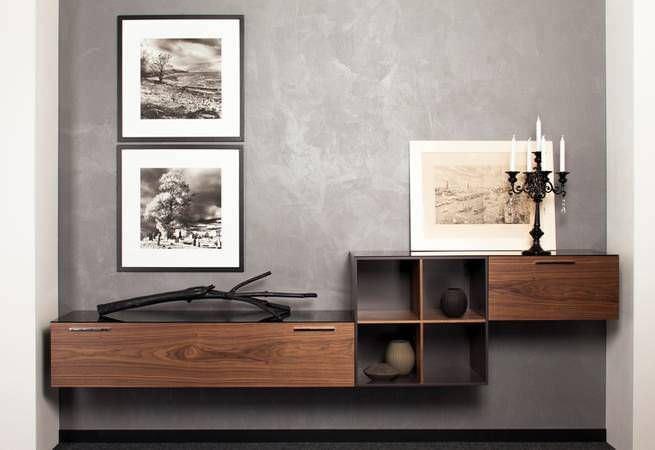Wohnwand holz  Moderner Wohnzimmer Wohnwand / lackiertes Holz - Paschen