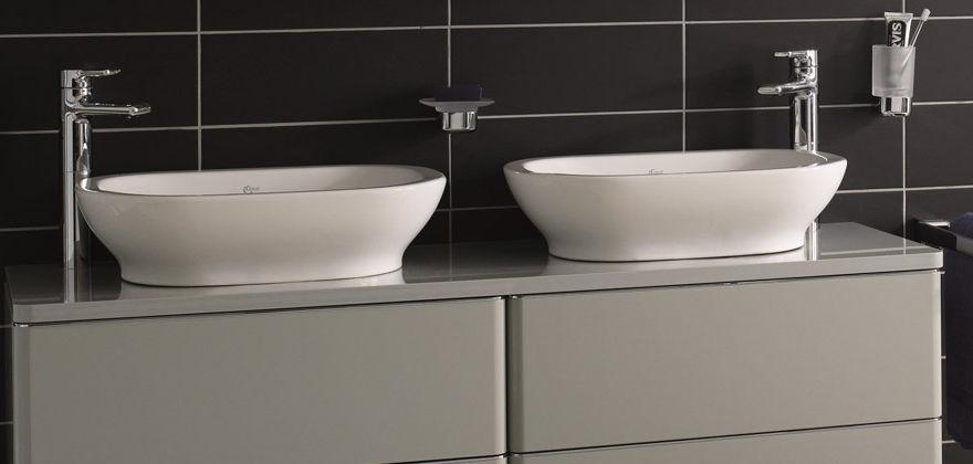 Aufsatzwaschbecken oval mit unterschrank  Aufsatzwaschbecken / oval / modern / mit Ablage - SOFTMOOD: T0560 ...