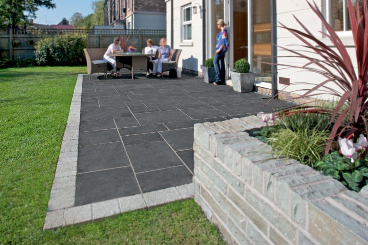 Interessant Fliesen für Außenbereich / Garten / Fußboden / aus Kalkstein  ZU07