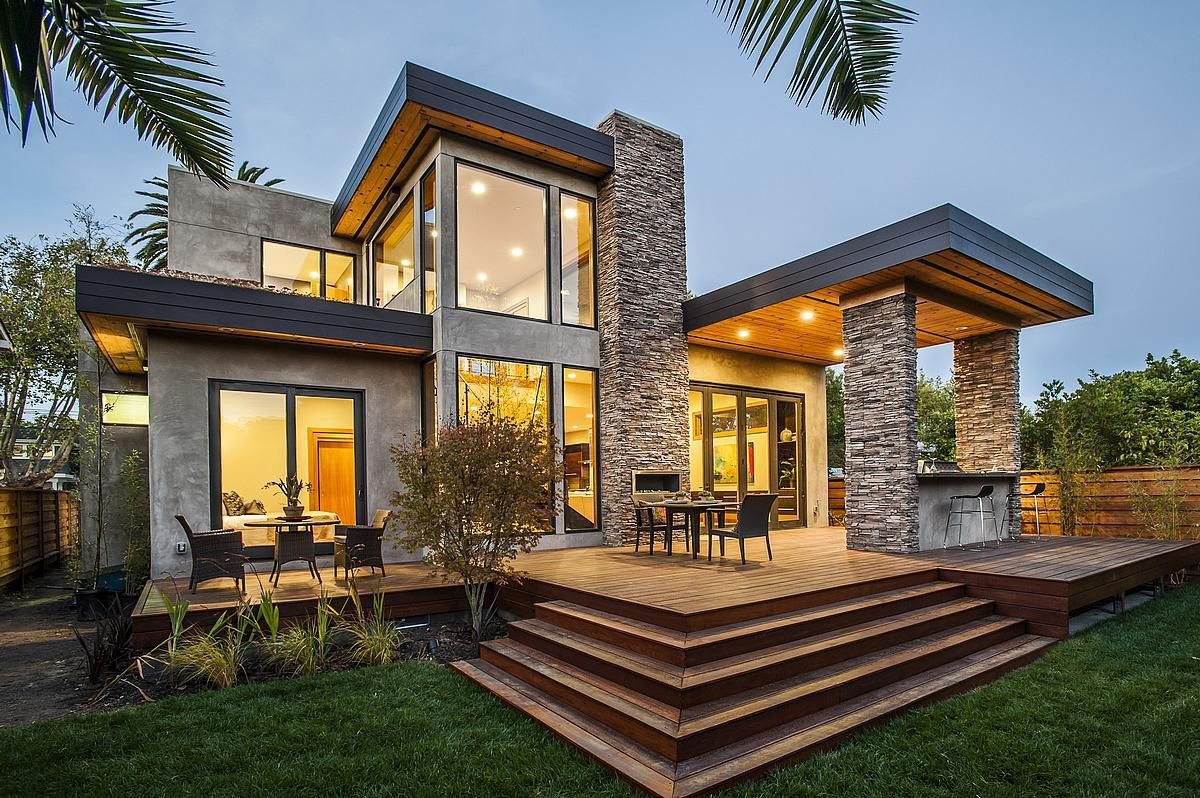 Fertigbauhaus modern öko mit 2 ebenen burlingame