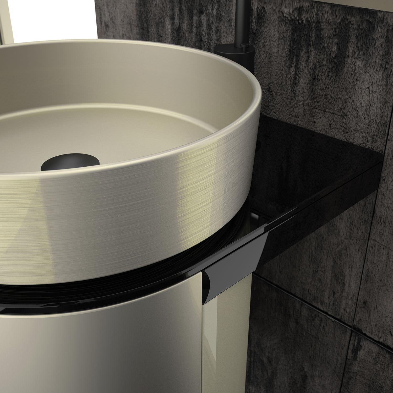 Hängend-Waschtischunterschrank / Metall / modern - KOIN MEDIO ... | {Waschtischunterschrank design 91}