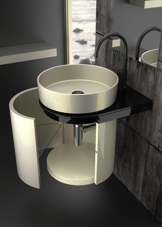 Waschtischunterschrank design  Hängend-Waschtischunterschrank / Metall / modern - KOIN MEDIO ...