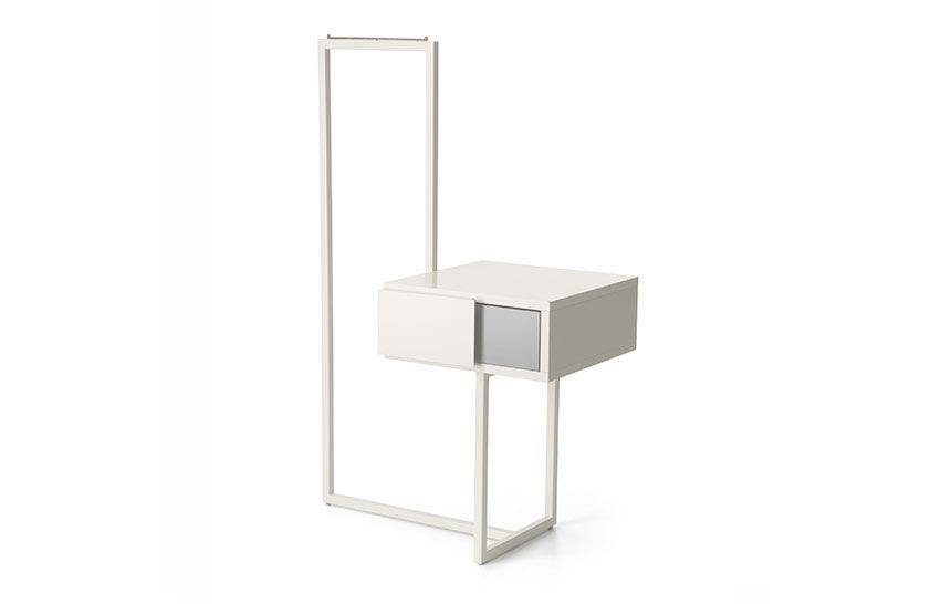 Moderner Nachttisch Metall Aus Mdf Rechteckig.