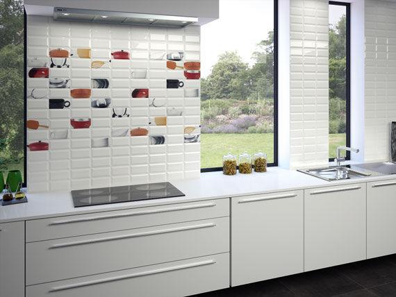 Fliesen für Badezimmer / Küchen / für Böden / Keramik - METRO - APE
