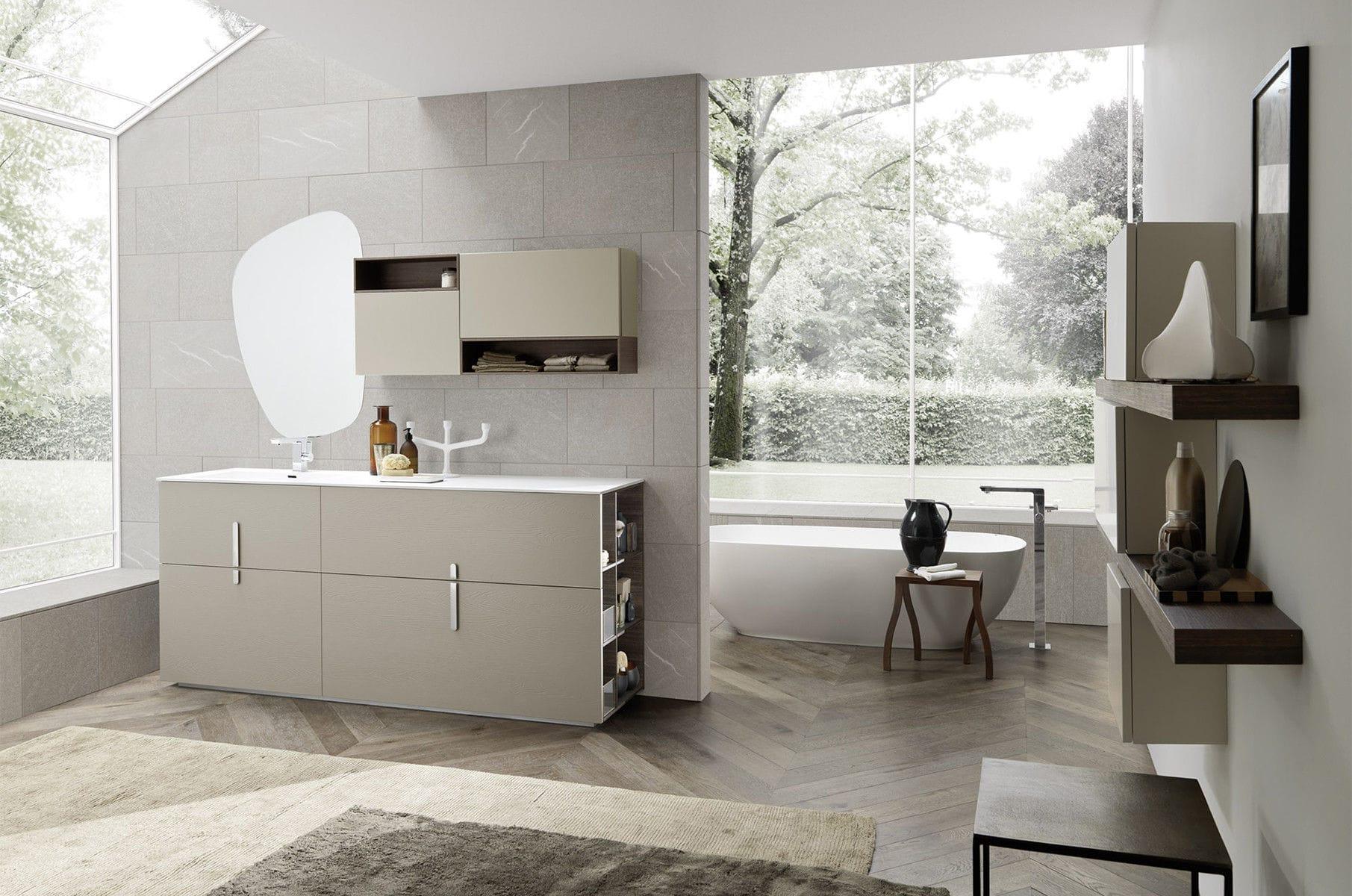 Modernes Badezimmer / Keramik / Holz / Melamin - COMPOSIZIONE 001 ...