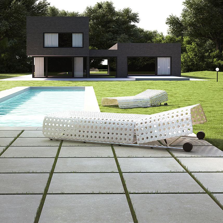 Außenbereich-Fliesen / Wand / für Fußböden / Feinsteinzeug - HBQ2 ...