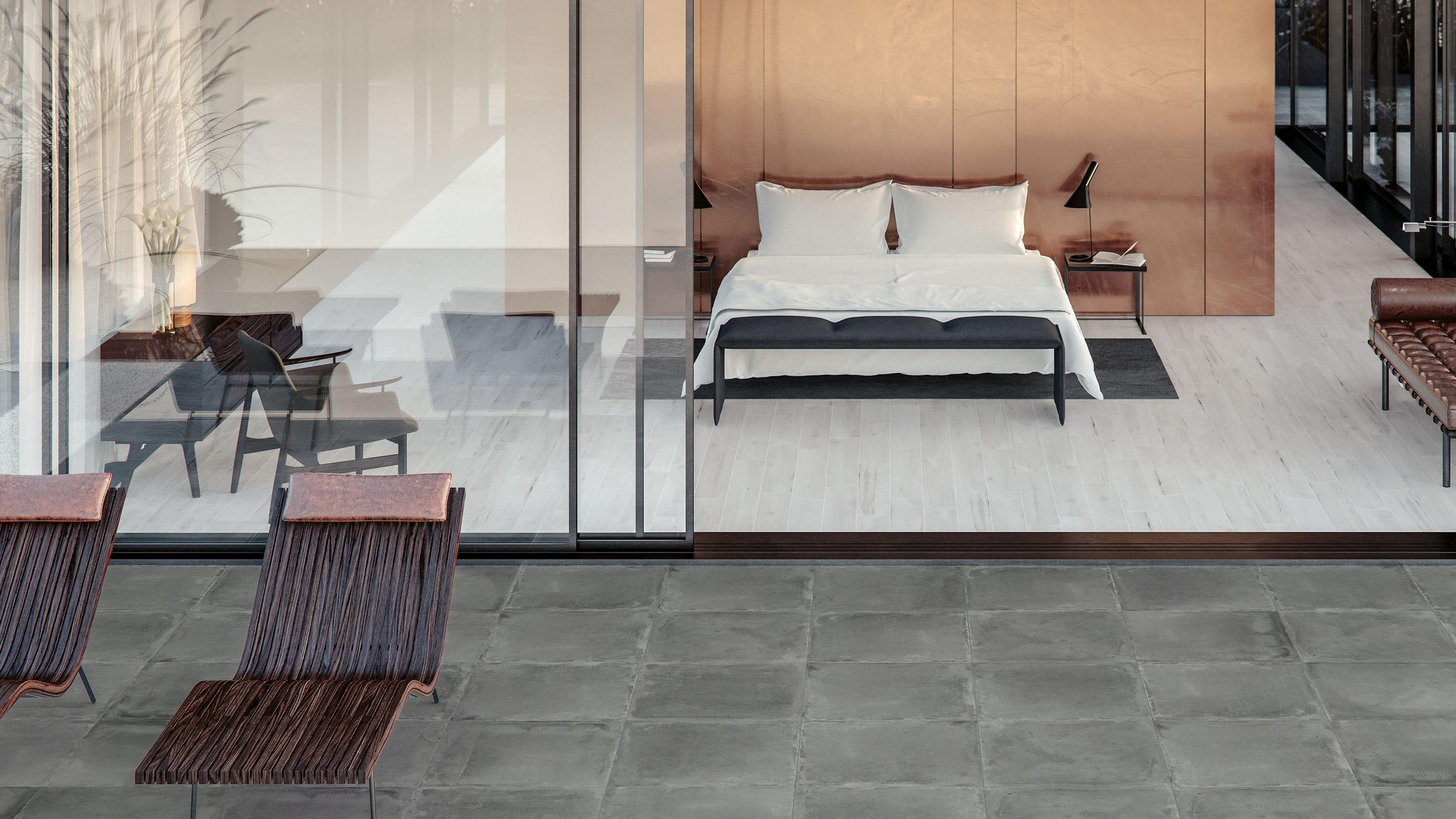 Wohnzimmer-Fliesen / für Böden / Feinsteinzeug / mit geometrischem ...