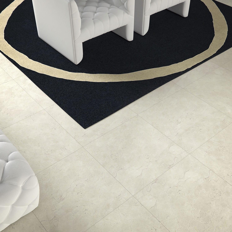 Wohnzimmer-Fliesen / für Böden / Feinsteinzeug / uni - CRISTAL - DOMINO