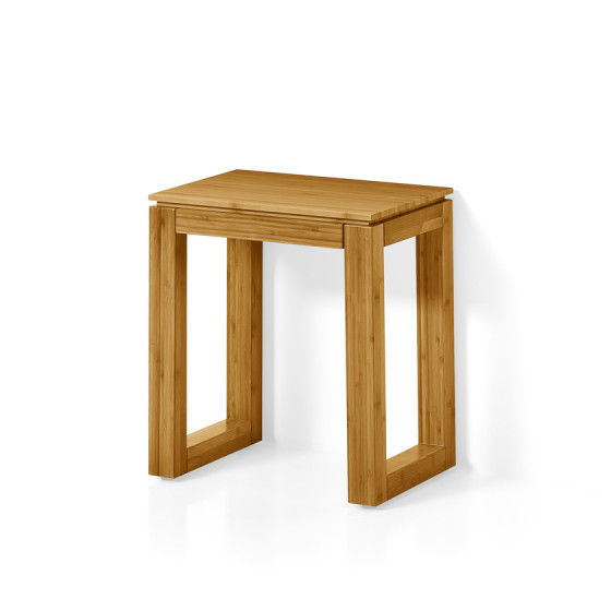 Moderner Hocker Holz Fur Badezimmer Braun Canavera