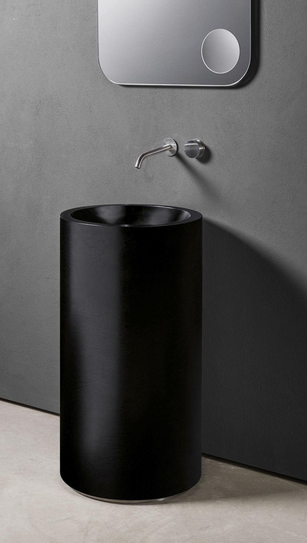 Freistehend-Waschbecken / rund / aus Corian® / modern - TOWER: CUP ... | {Waschbecken freistehend 27}