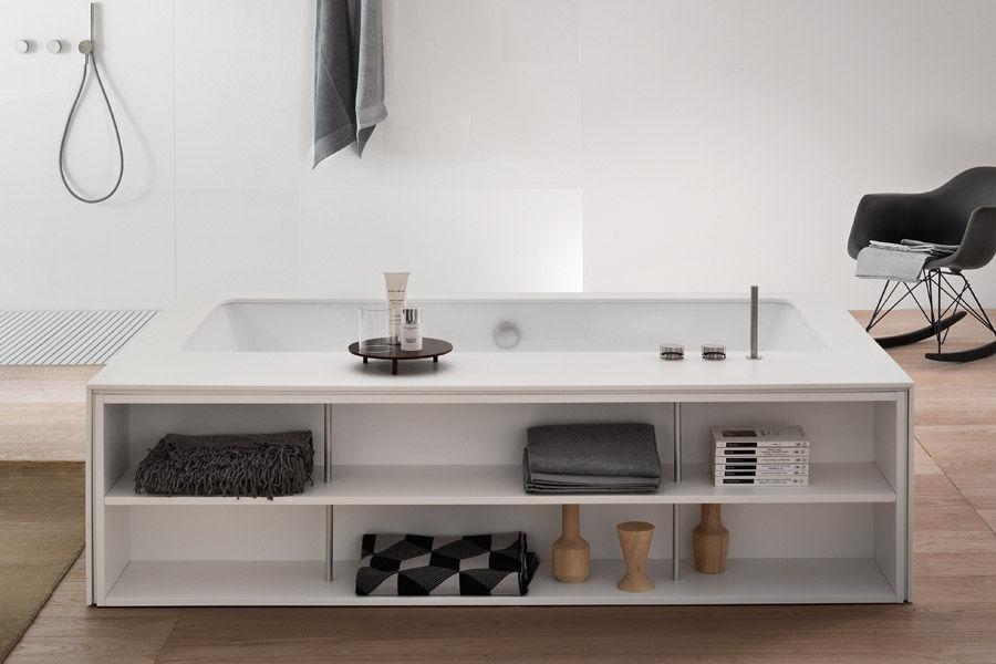 Freistehende badewanne holz  Freistehende Badewanne / aus Corian® / aus Marmor / Holz - MY ...