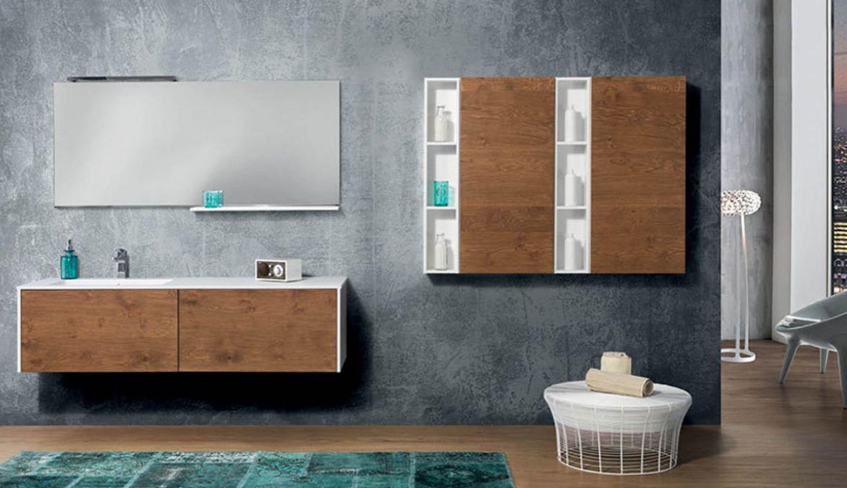 Hängend-Waschtischunterschrank / Massivholz / modern / Schubladen ... | {Waschtischunterschrank modern 21}