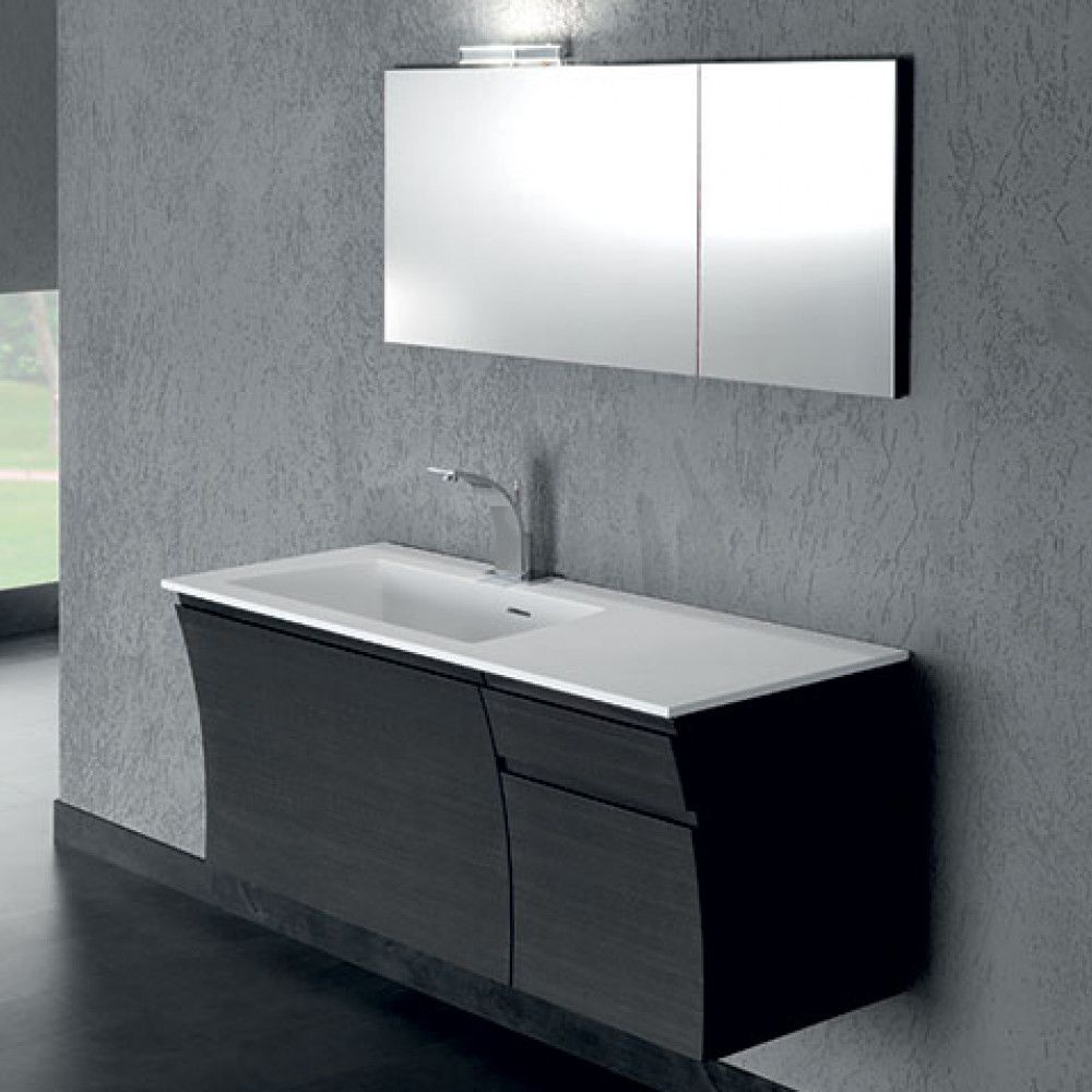 Waschtischunterschrank holz hängend 120  Hängender Waschtisch-Unterschrank / Holz / modern / Schubladen - S ...