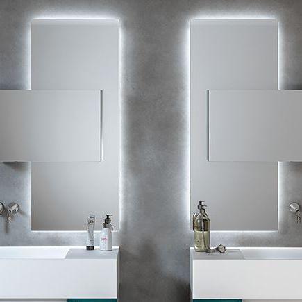 Wandmontierter Spiegel für Badezimmer / beleuchtet / modern ...