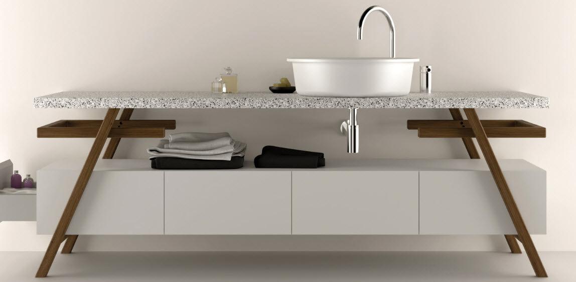 Freistehender Waschtischunterschrank / aus Corian® / Designer ... | {Waschtischunterschrank design 68}