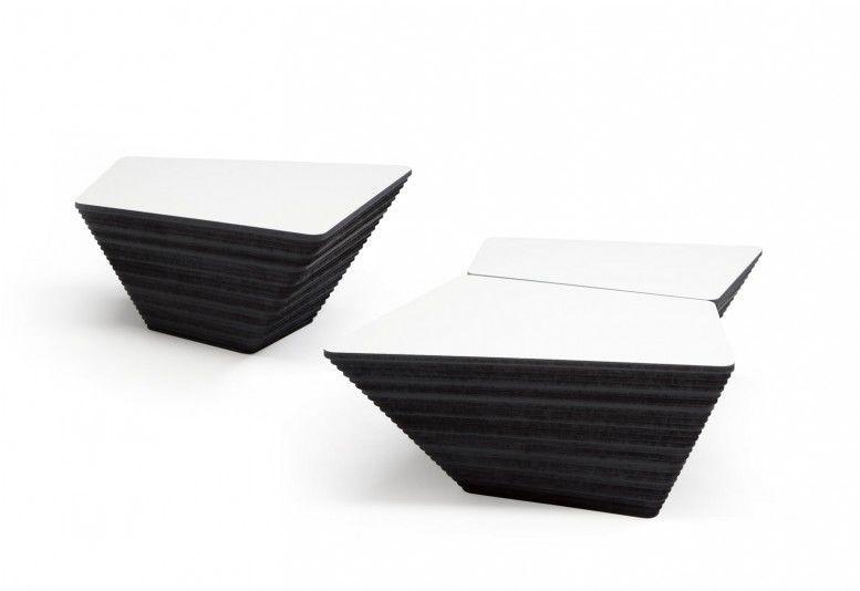 Dutch Design · Moderner Couchtisch / Holz / Quadratisch / Innenbereich  STONE By Kees Marcelis Odesi. Dutch Design