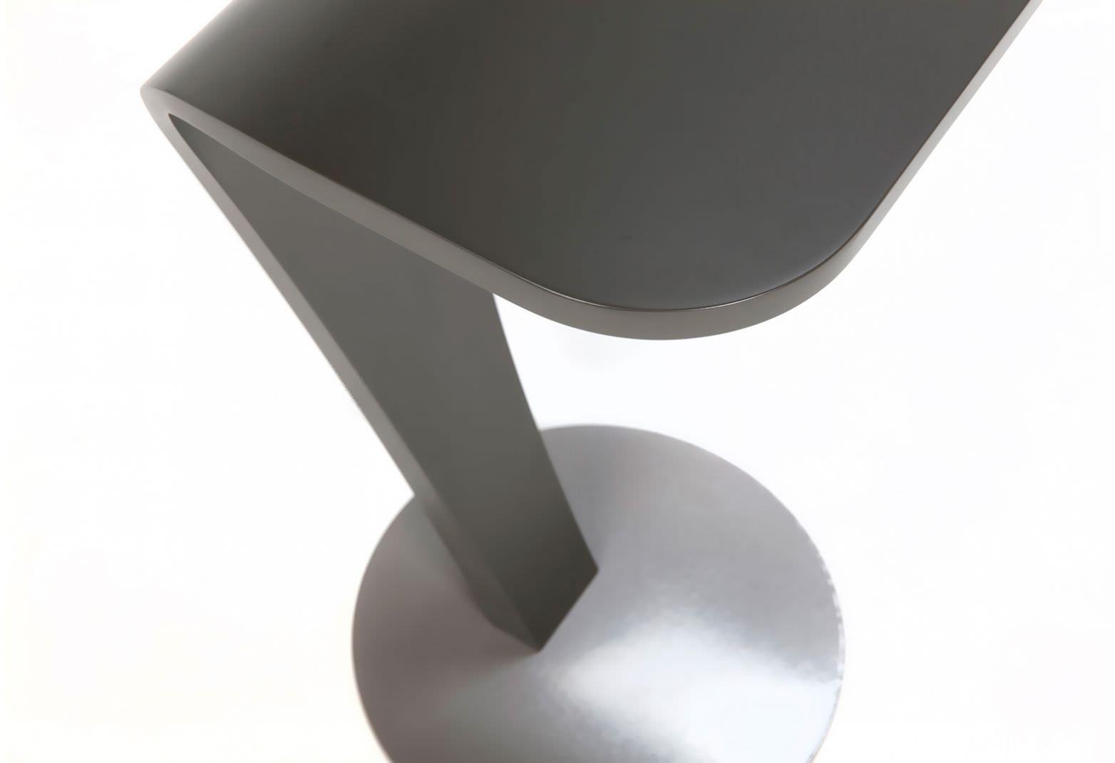 Dutch Design Moderner Beistelltisch Holz Metall Rund Cobra By Kees Marcelis Odesi