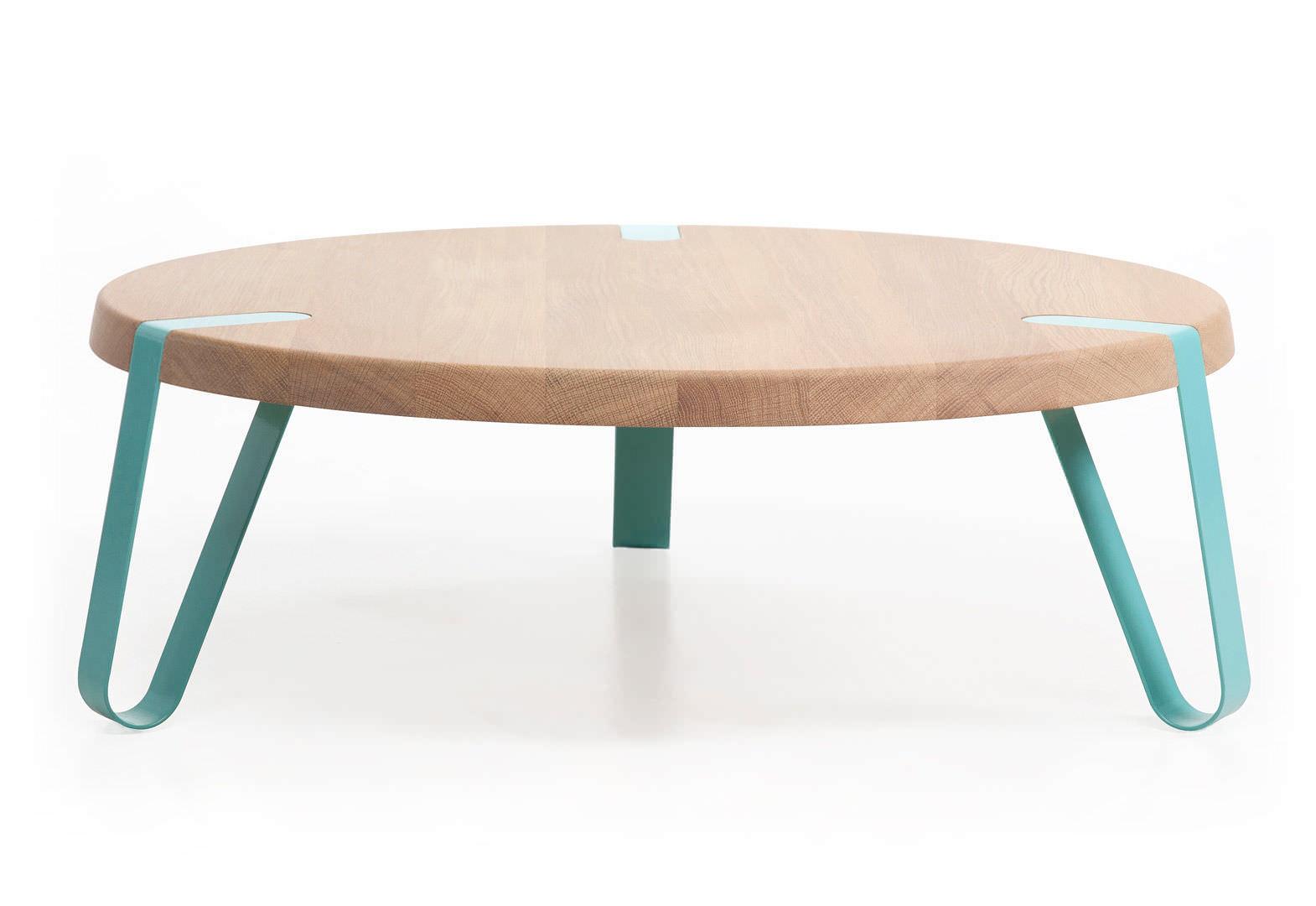 Dutch Design; Moderner Couchtisch / Holz / Rund / Innenbereich LEVEL By  Erik Remmers Odesi.