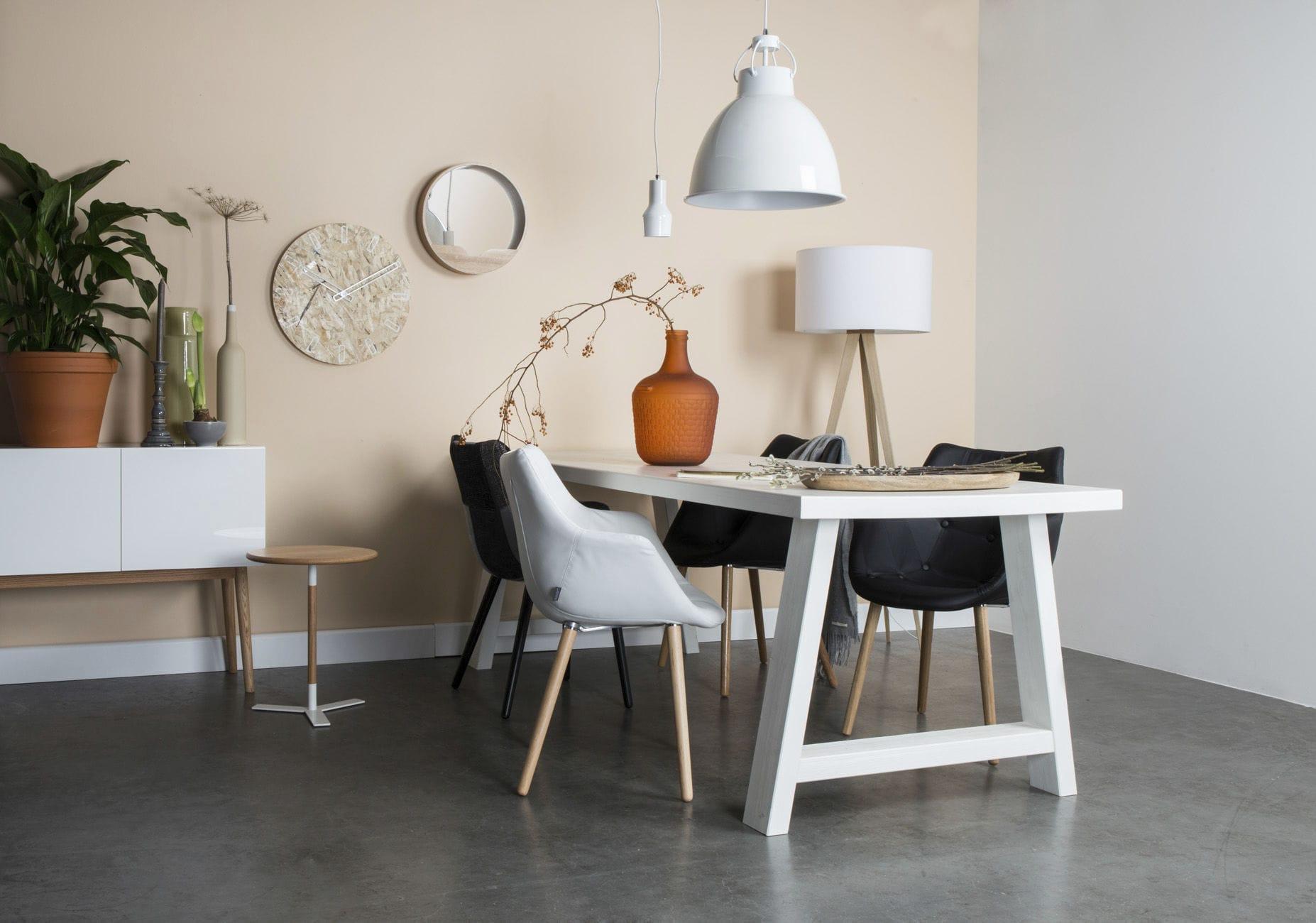 Moderner Esstisch / lackiertes Holz / aus Kiefer / rechteckig - A ...