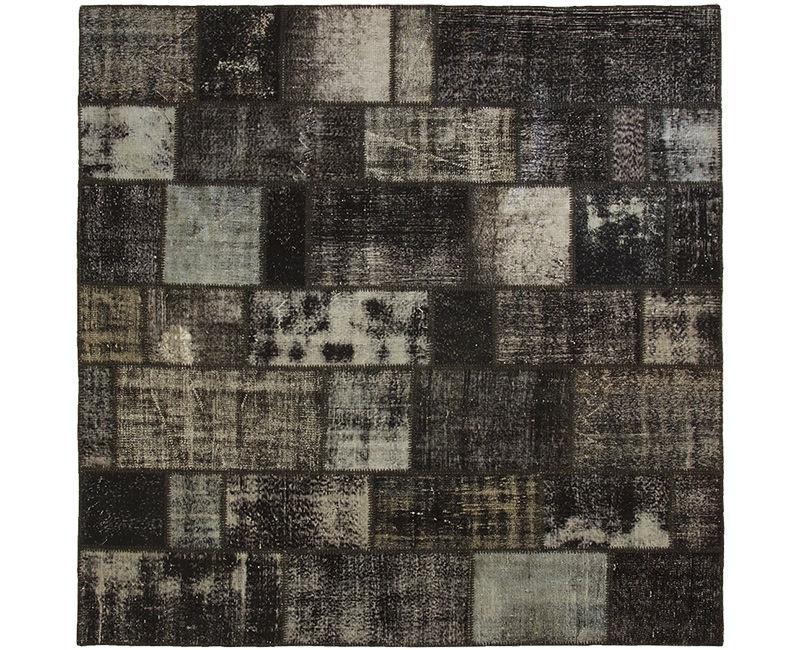 Orientteppich modern  Orient-Teppich / modern / Patchwork / Wolle - 3048 - REMADE
