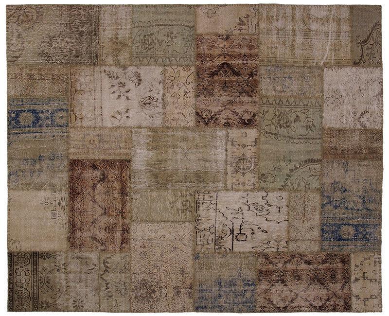 Orientteppich modern  Moderner Teppich / Patchwork / Wolle / rechteckig - 3041 - REMADE