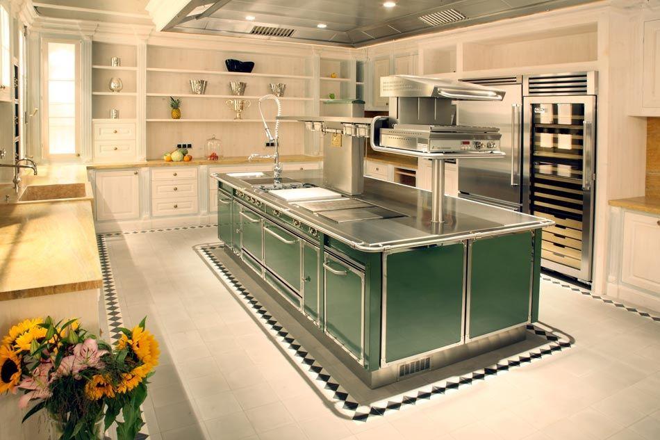 Moderne küche / aus metall / kochinsel   gu3015 serie grand chef ...