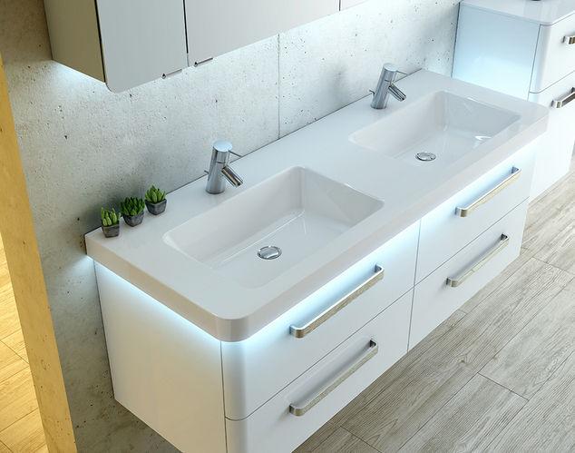 Doppelwaschbecken mit unterschrank modern  Doppeltes Waschbecken / Aufsatz / rechteckig / modern - ARTIQUA 214 ...