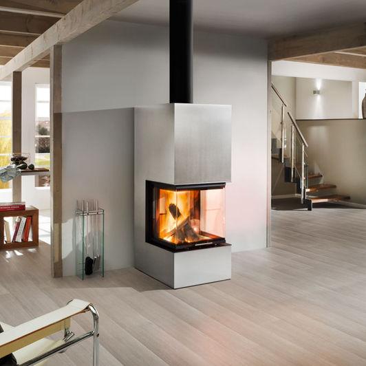 Holz-Kaminofen / modern / 3 Sichtseiten / Metall - ARTEMIS ...
