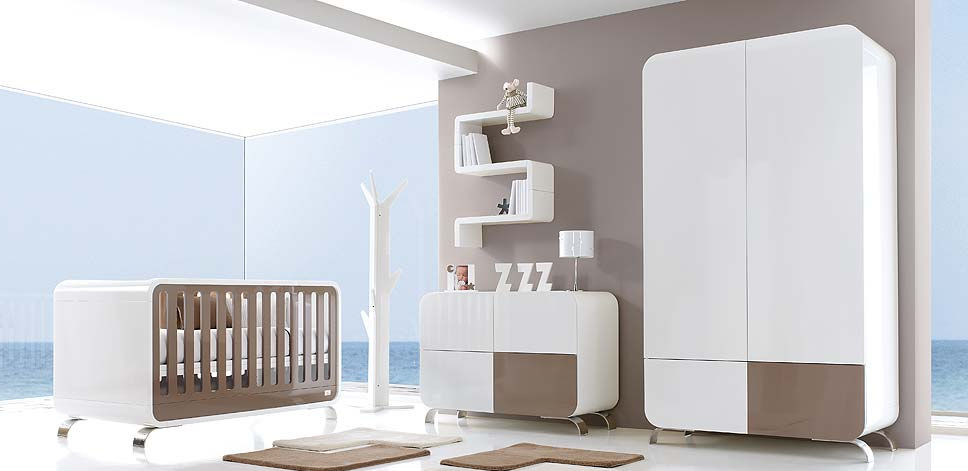 baby-kinderzimmer / weiß - a317-3319 - alondra - Kinderzimmer Baby Weis