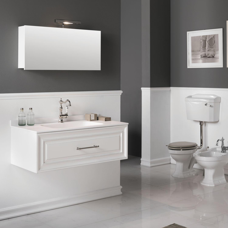 MDF-Waschtischunterschrank / modern / mit Spiegel - CHARME 2 ... | {Waschtischunterschrank modern 36}