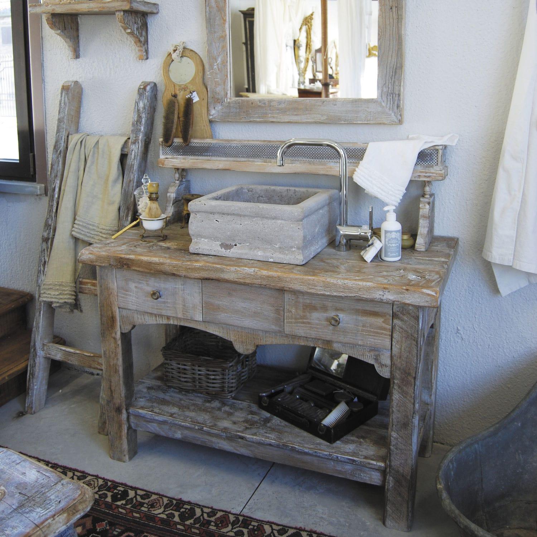 Freistehender Waschtisch Unterschrank Holz Klassisch Vintage