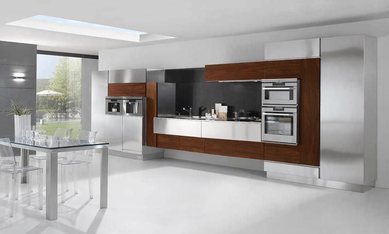 Moderne Küche / Edelstahl / Holz - RETRO' - ARCA CUCINE ITALIA S.R.L.