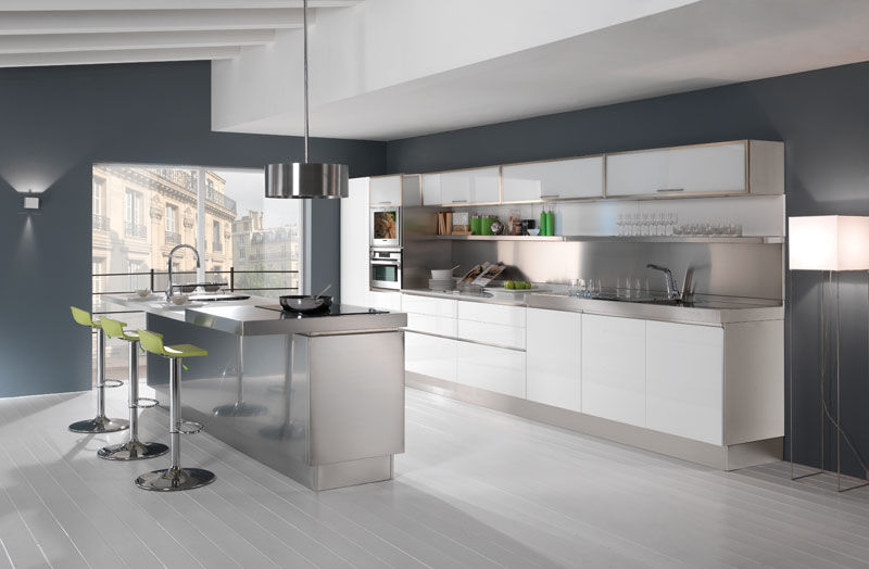 Moderne Küche / Glas / Stein / Edelstahl - TREND - ARCA CUCINE ...