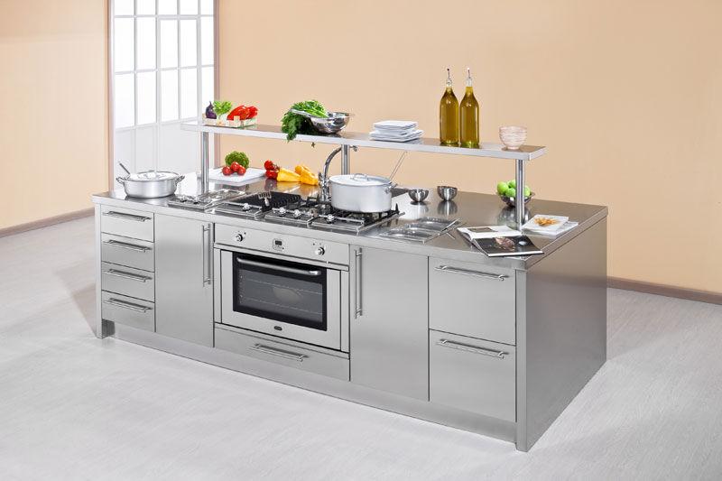 Moderne Küche / Edelstahl / Kochinsel - WORK STATION - ARCA CUCINE ...