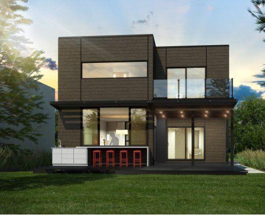 Fertigbauhaus / modern / mit 2 Ebenen - MAISON - Industries Bonneville