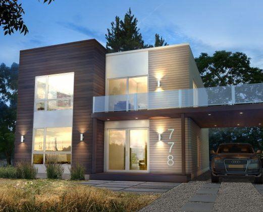 Fertigbauhaus / modern / mit 2 Ebenen - RUBIK - Industries Bonneville