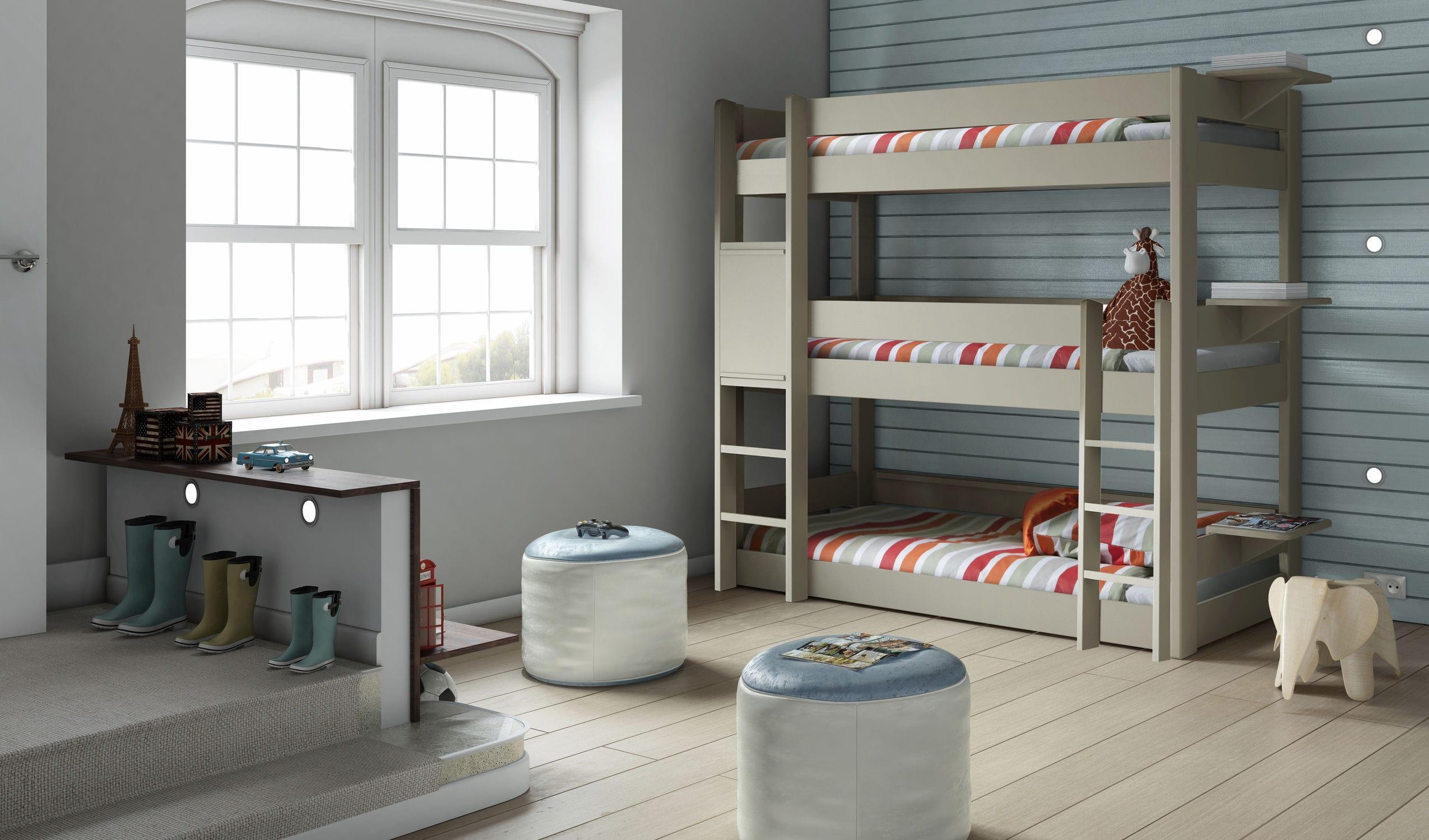 Dreier Etagenbett : Bett dreier etagen einfach modern für kinder dominique