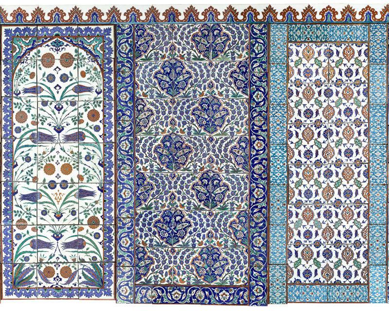 Klische Tapeten Meistergemälde Steingutmotiv Vlies Oriental Tiles 1