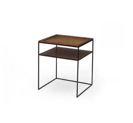 Moderner Nachttisch / Nussbaum / Rechteckig   BLACKENED