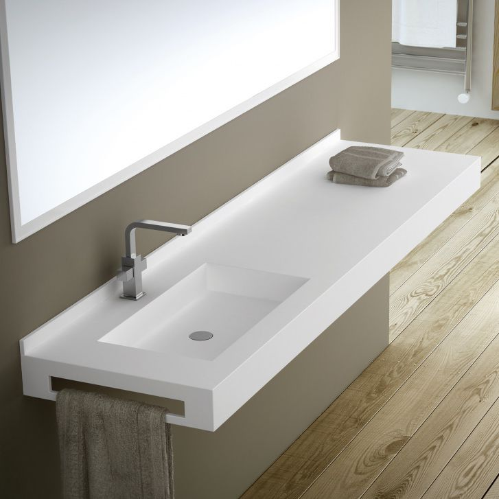 Waschtischplatte schiefer  Wand-Waschbecken / rechteckig / aus Schiefer / mit integrierter ...