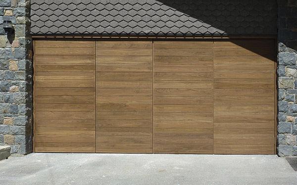 Garagentor Holz faltbares garagentor / holz / manuell - urban front