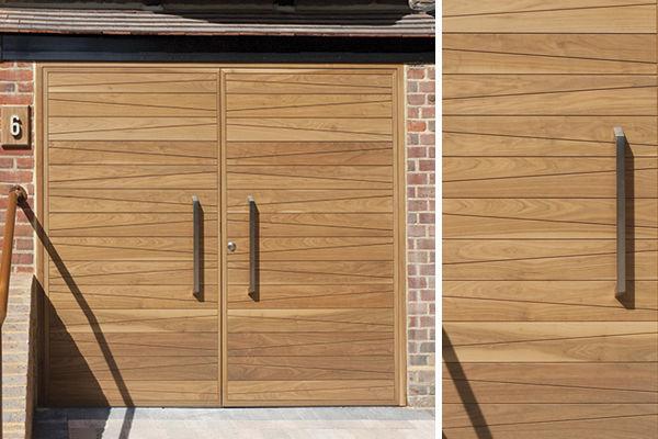 Garagentor Holz einflügeliges garagentor / holz / manuell / automatisch - urban front