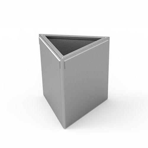 Stahl-Pflanzkübel / dreieckig / modern / öffentliche Bereiche ...