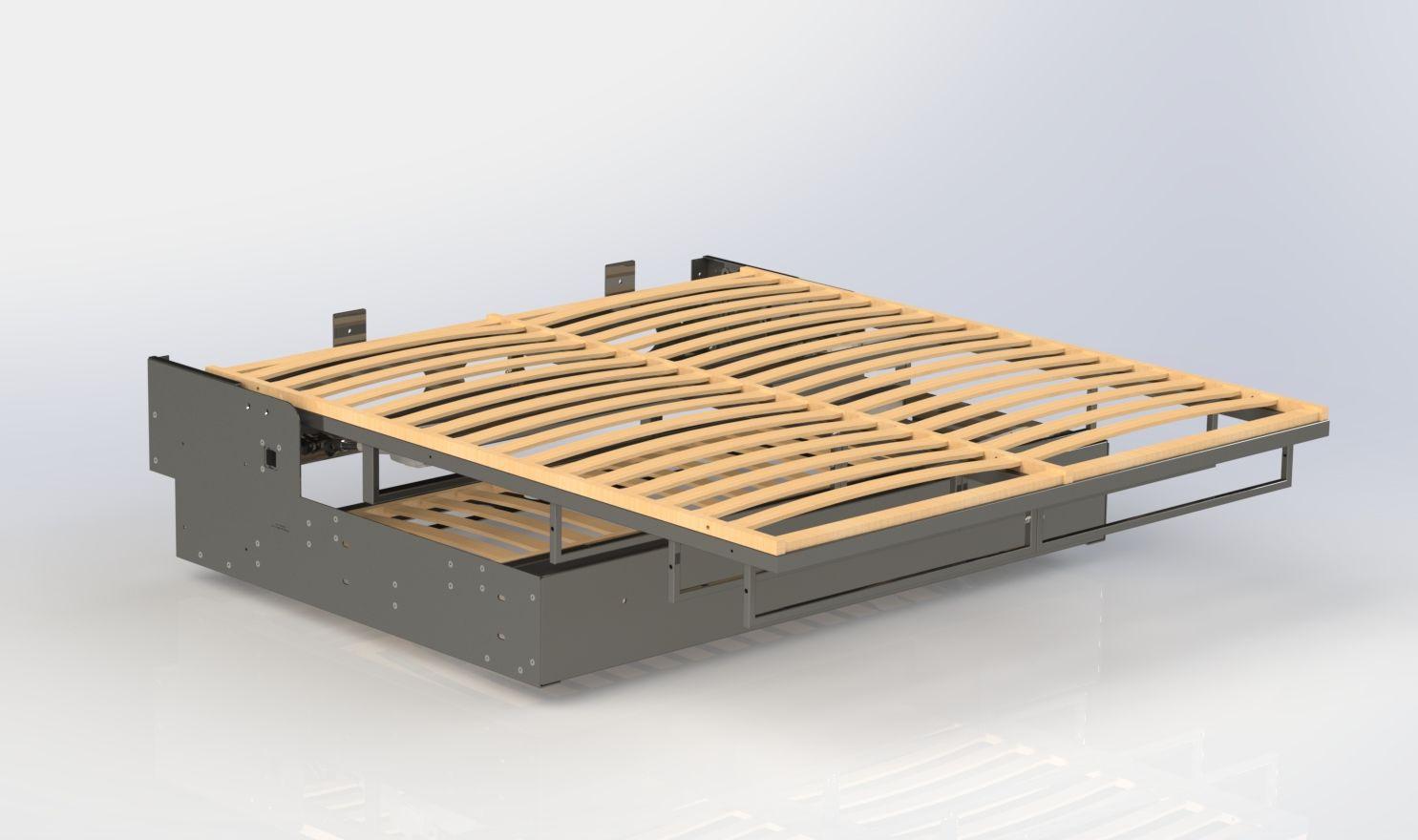 Modulierbares Sofa Bett Modern Holz Hybride Liftsecurity