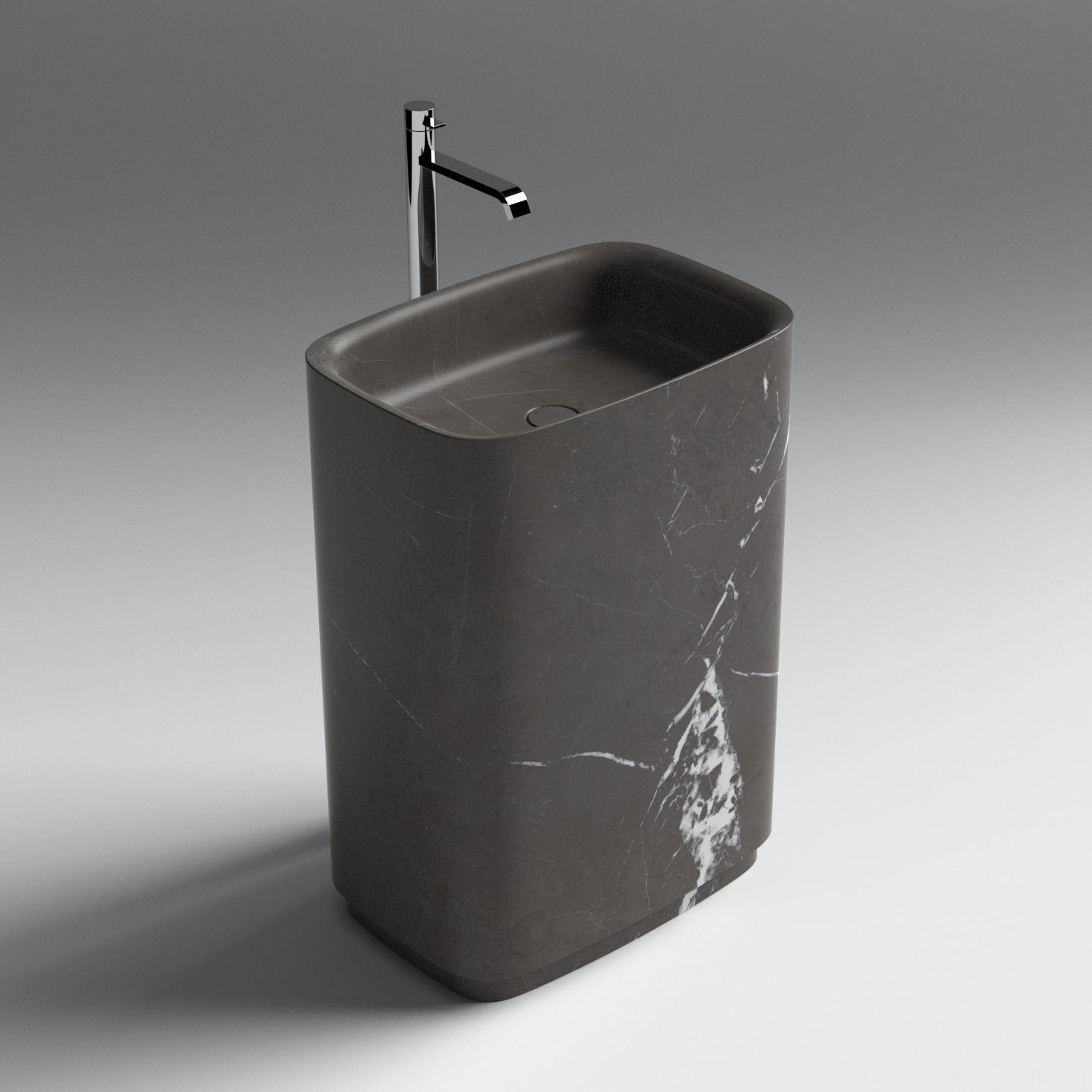 Waschbecken freistehend naturstein  Freistehend-Waschbecken / ander Form / aus Naturstein / modern ...
