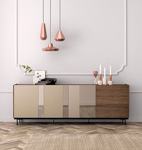 Sideboard nussbaum glas  Modernes Sideboard / Nussbaum / Glas - FRENTES : A04 - VIVE ...