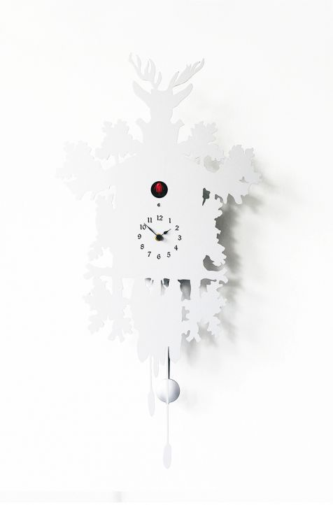 Moderne Uhr / Analog / wandmontiert / Holz - CUCÙ by Pascal Tarabay ...