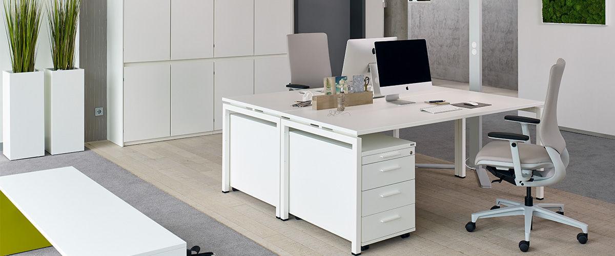 Schreibtisch für Open Space / Holzfurnier / Melamin / modern ...