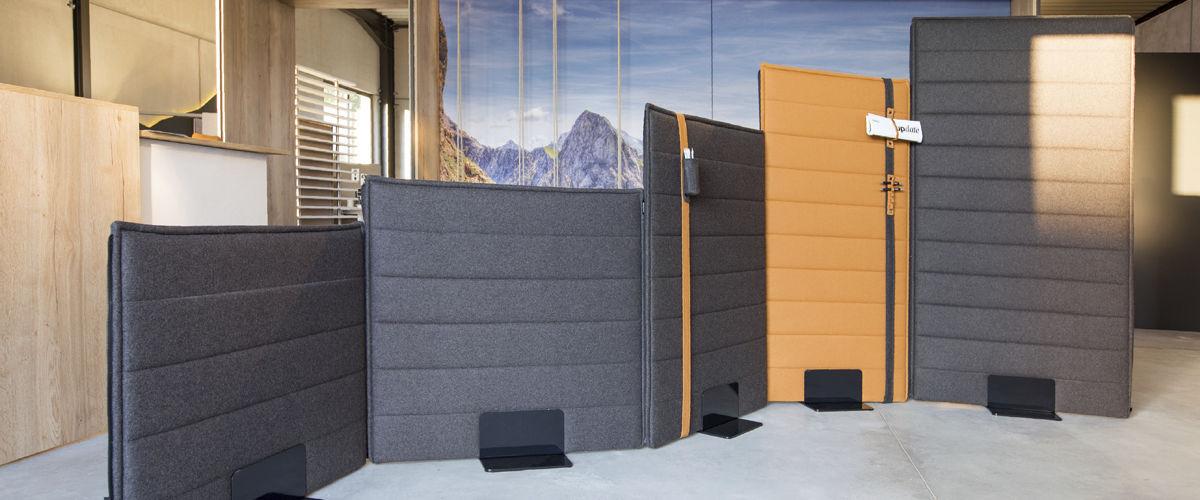 Bodenstehende Schreibtisch Trennwand / Stoff / modulierbarer ...