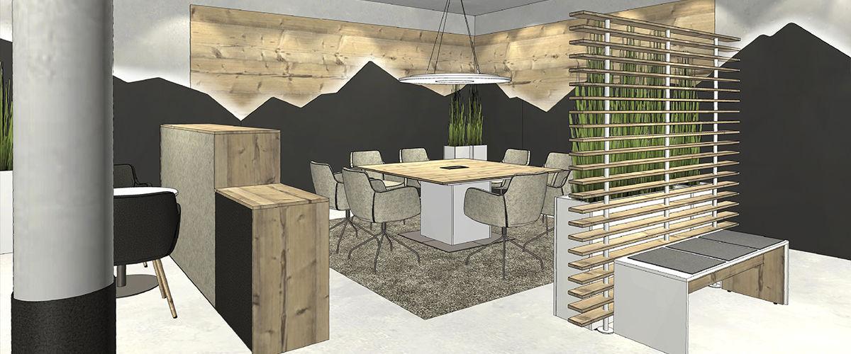 Bodenstehende Schreibtisch Trennwand / Holz / Designer - FIN UNIT ...